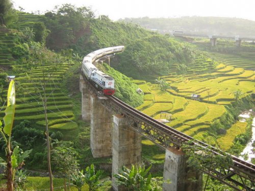 Java Attractions Train Bandung Indonesia